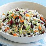 Фруктовый рисовый салат