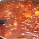 Суп с овощами и субпродуктами