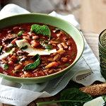 Густой суп из говядины Минестроне